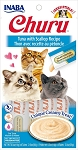 Inaba Churu Tuna with Scallop Lickable Cat Treat, 0.5oz tube pack of 4